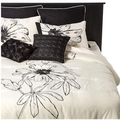 Imgenes de black and white flower bed set target black and white flower comforter 228862 juicy couture gold dust euro sham mightylinksfo