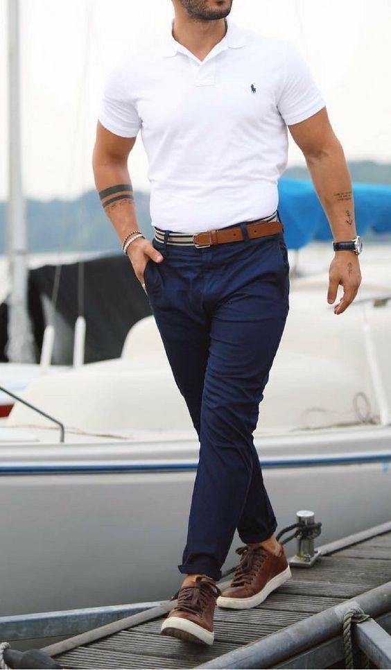 50 looks femininos e masculinos nas cores azul marinho e branco | Blog da Mari Calegari
