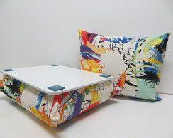 Almofada para Notebook-Riscas Coloridas R$ 55,00 http://www.elo7.com.br/categoria/casa/almofada-para-notebook?sortBy=10&pageNum=2 CIA DA ALMOFADA