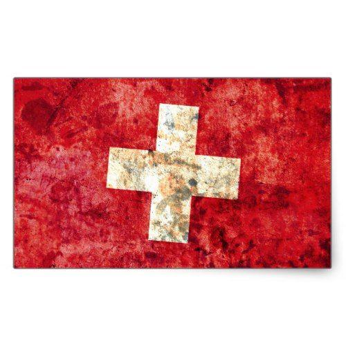 Flag Of Switzerland Rectangular Sticker Zazzle Com Switzerland Flag Flag Swiss Flag