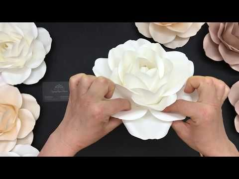 Small Rose Paper Flowers Video Tutorial With One Piece Template How To Make A Rose Paper F Diy Paper Flowers Tutorial Paper Flower Tutorial Paper Flowers Diy