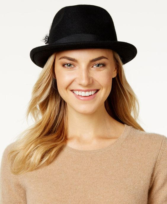 Nine West Felt Porkpie Fedora
