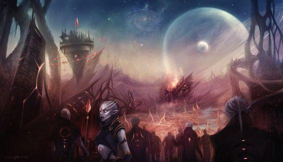 Faria Invasion By Evakosmos Environment Sketch Landscape