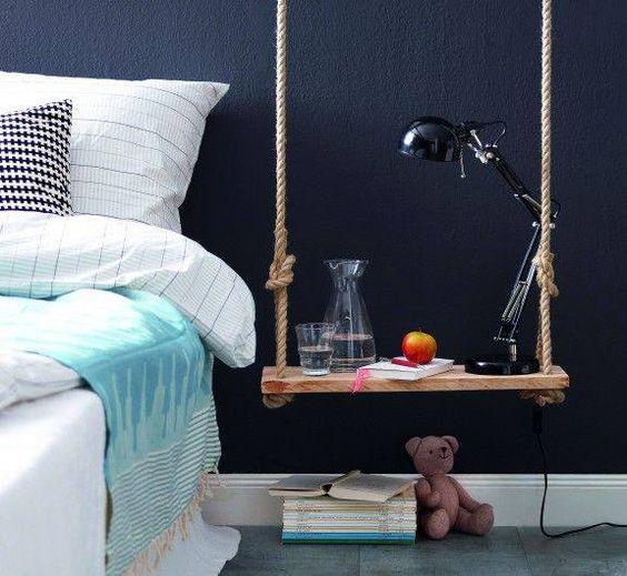 Los columpios que inspiran la decoración y el mobiliario.
