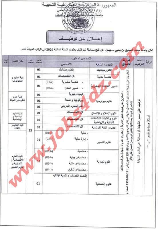 اعلان توظيف بجامعة محمد الصديق بن يحيى جيجل In 2021 Map