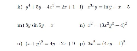 Implicit Differentiation A Worksheet On Implicit Differentiation