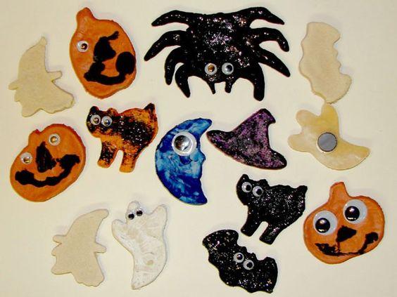 Salt Dough Halloween Magnets