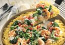 Shrimp Pasta Pie - The Pampered Chef (deep covered baker recipe)