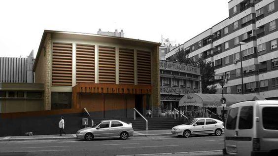 Edificio funcionalista de 1950, donde los espacios y la estructura tienen un gran valor arquitectónico. Av de Navarra, 54. #zaragoza