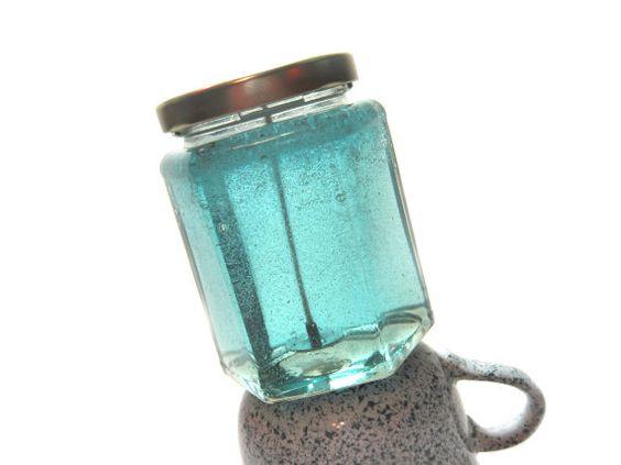 Scented Gel Candle or Unscented, Buyers Choice Custom Candle, Minimalist Beach, Nautical Aqua Geometric, Modern Home Fragrance