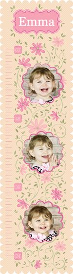 $34.95 one of our favorite growth chart wall decals! Scalloped edges and a feminine floral design! www.nationsphotolab.com