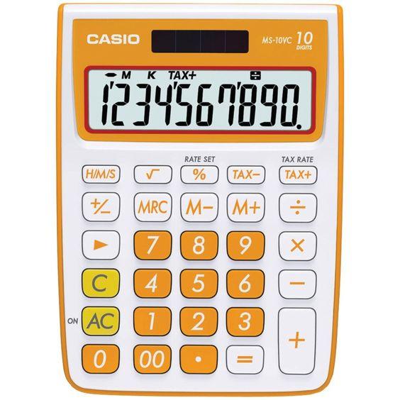 CASIO MS-10VC-OE 10-Digit Calculator (Orange)