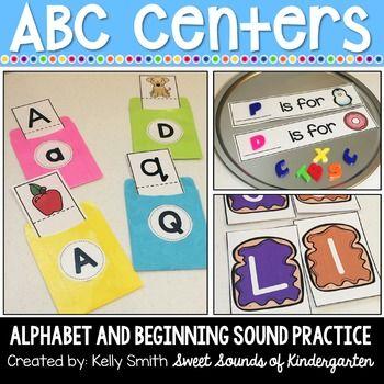 Alphabet Centers Alphabet Matching And Beginning Sound