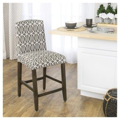 Remarkable 24 Curved Top Counter Stool Brindle Taupe Homepop Uwap Interior Chair Design Uwaporg
