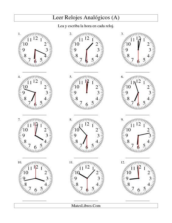 Printables La Hora Worksheet la hora worksheet vintagegrn
