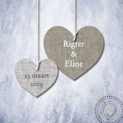 #trouwkaart print stoffen harten