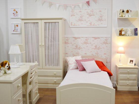 Dormitorio cl sico de ni a el p jaro carpintero conjunto for Armario habitacion nina