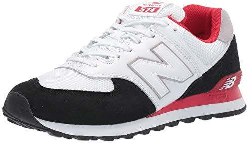 New Balance Men's 574v2 Sneaker, Black/Team Red, 4.5 2E US ...