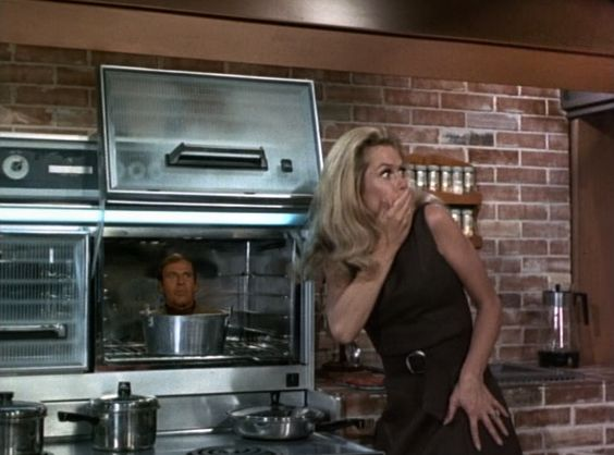 Season 5 • Samantha's French Pastry  #Bewitched  #Elizabeth Montgomery  #Paul Lynde: