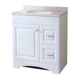 Style Selections Almeta 30-in x 18-in White Integral Single Sink Bathroom