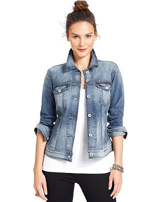 Levi's Jacket, Classic Trucker Light Blue Denim - Jackets ...