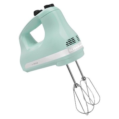 KitchenAid is known for its quality mixer technology, and the KitchenAid 5-Speed Hand Mixer is no exception. This powerful mixer has 5 speeds to help you accomplish all the whipping, beating, and mixing you need. Designed to be easy to use, the mixer is lightweight and features a comfort grip handle.