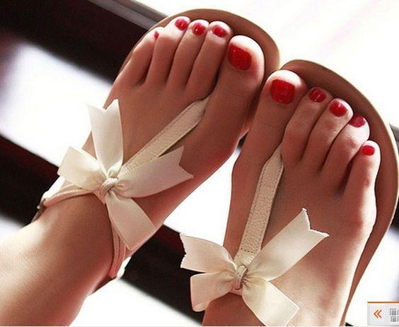 3235 Bowknot is flat sandals