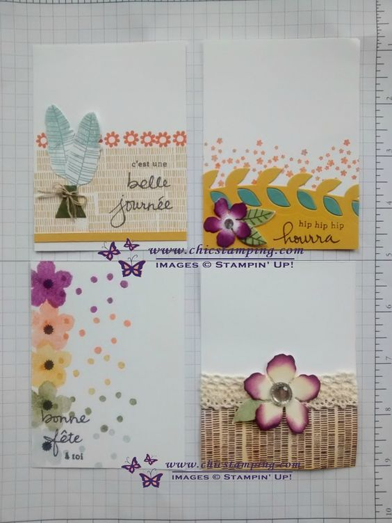 DIY project life card series botanical bloom #stampin'Up! #chicstamping
