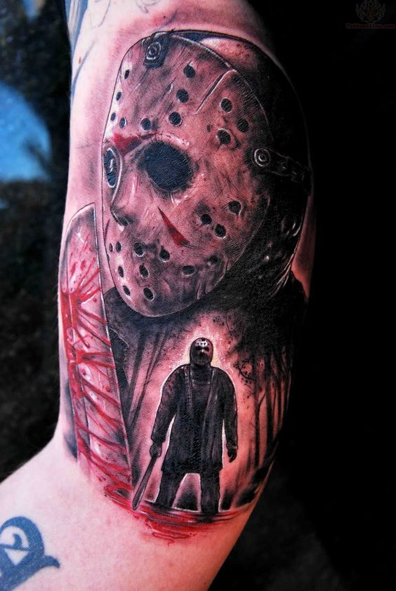 jason voorhees scary half sleeve 1 071 1 600 pixels tattoos pinterest friday. Black Bedroom Furniture Sets. Home Design Ideas