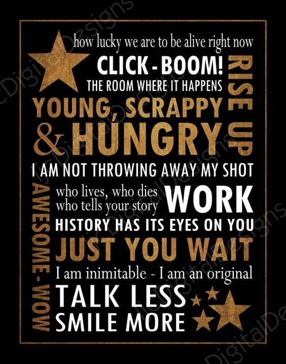 Hamilton the musical fan art subway style art quotes.  This is a digital JPG (300 dpi) file that is available for immediate download in both