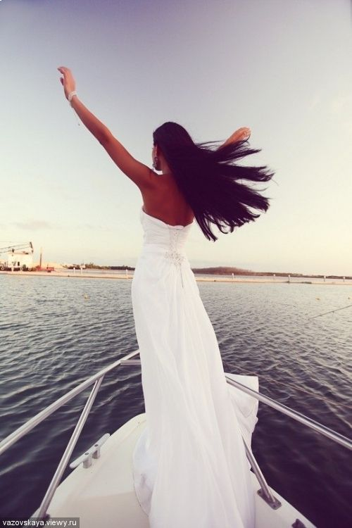 Wind and water and evening gown