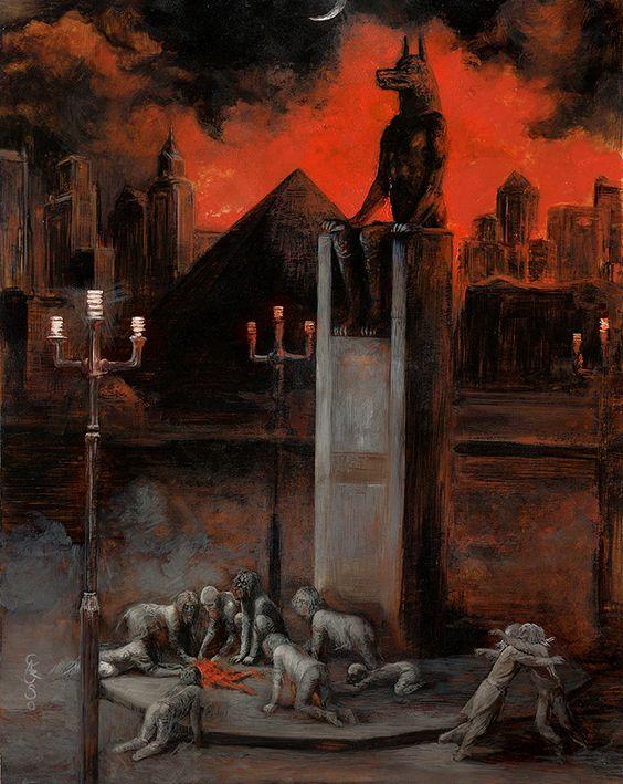 Cynopolis - Eternal Present. Santiago Caruso.: