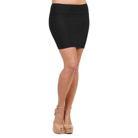 Stretch Simple Cotton Mini Skirt Minijoup Basic Plain Skirt ...
