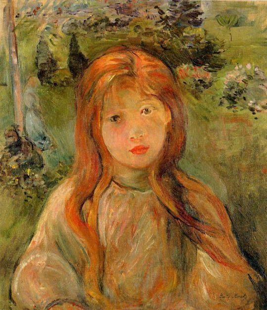 Little Girl at Mesnil by Berthe Morisot: