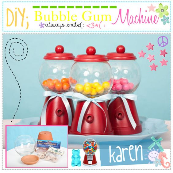 """""""DIY; Bubble Gum Machine :)"""" by everygirlhasatip on Polyvore"""