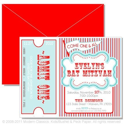 Vintage Carnival Invites | Carnival invitations, Red and blue and ...