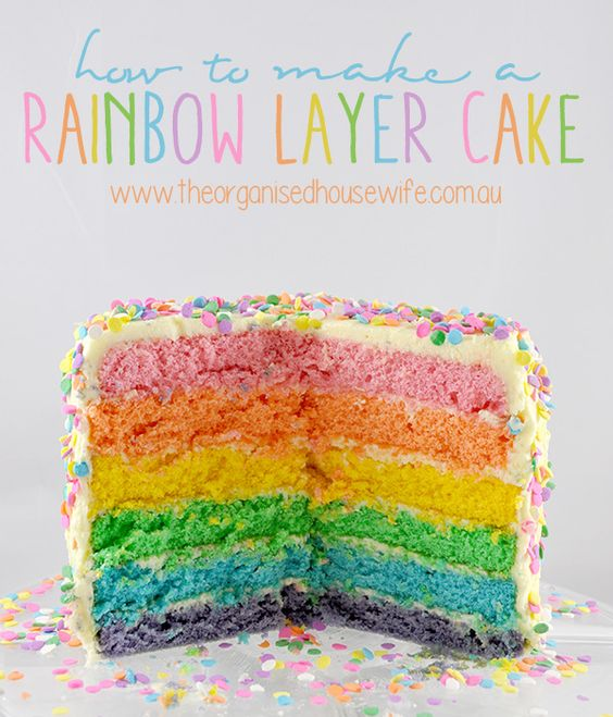 ... cake mornings rainbow layer cakes angel food cake declutter family
