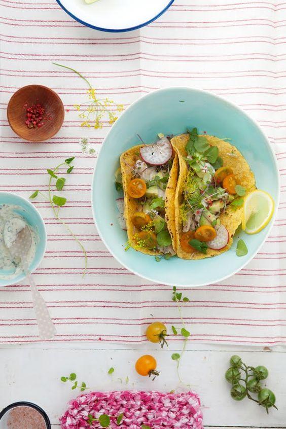 Tacos al pesce azzurro marinato: