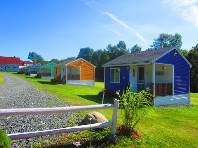 Colorful tiny houses vacation cottages in Maine Very cute
