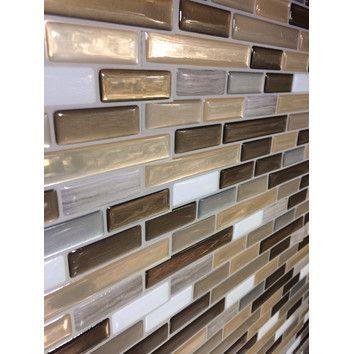 high gloss mosaic in beige gray reviews peel 39 n stick b