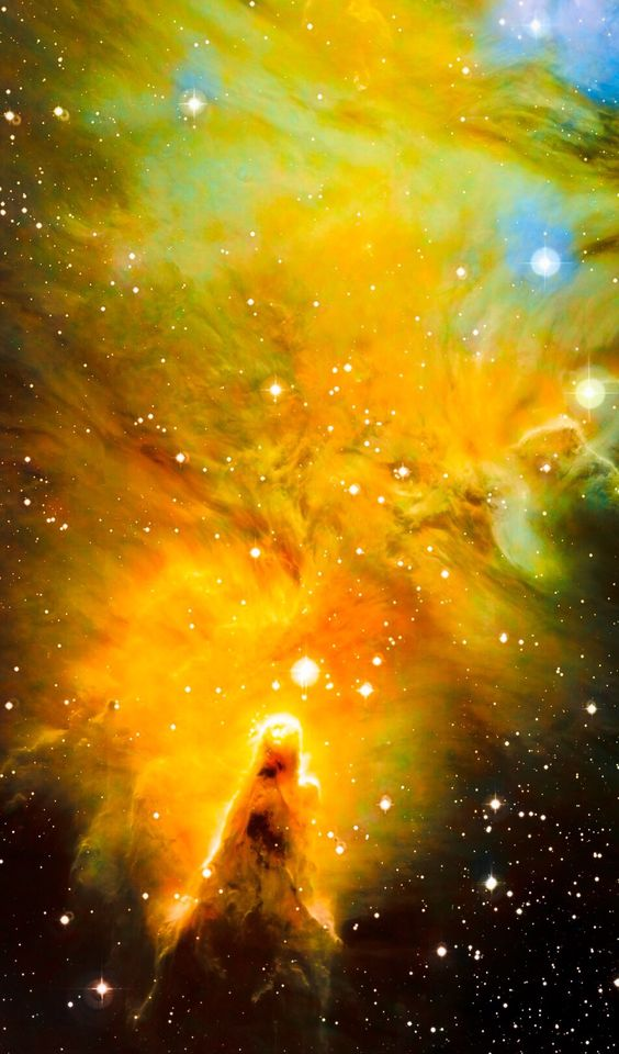 NGC 2264, The Christmas Tree and Cone Nebula Hubble Palette Credit: NASA/Hubble, Color/Effects thedemon-hauntedworld