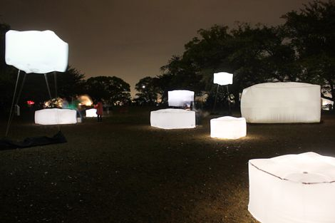 glowing, boxes