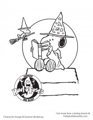 snoopy halloween coloring pages charlie brown