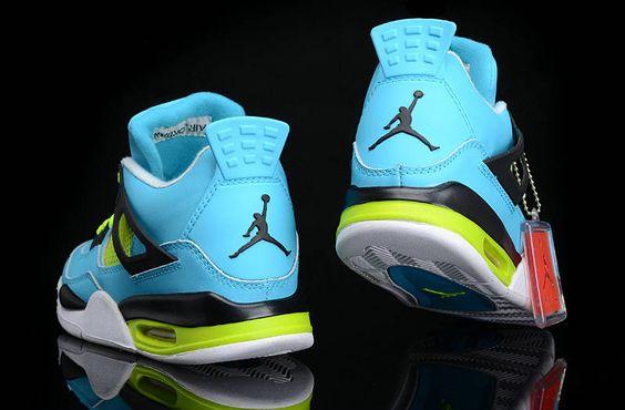 Air Jordan 4 White #Chlorine Blue Volt Black White New #Jordans Shoes 2013  #halfoff