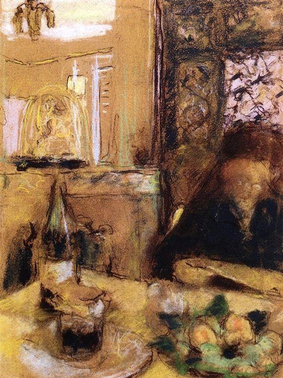 The Artist-s Mother Reading by Edouard Vuillard