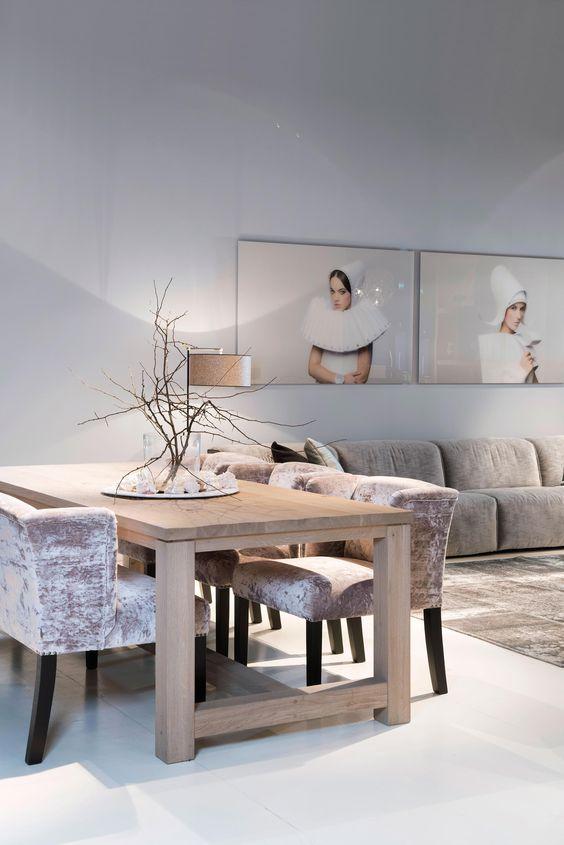Keijser co eetkamertafel nature bank the grand fauteuil avalon home pinterest natuur - Idee deco eetsalon eigentijdse ...