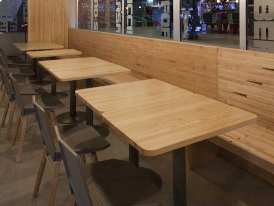 banco madera restaurante
