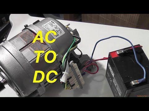 32 Easy Conversion Of Ac Washer Motor To 12vdc Youtube Washing Machine Motor Motor Generator Electric Go Kart