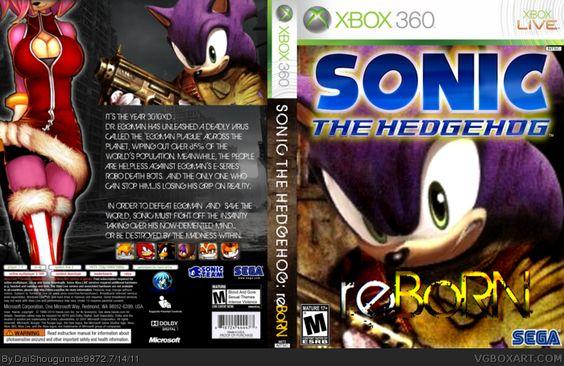 Sonic the Hedgehog (2011) : reBoRN Xbox 360 Box Fan Art Cover