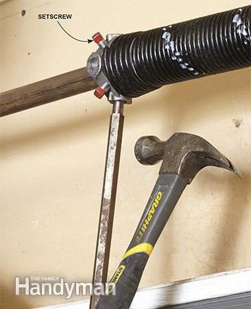 Advanced Garage Overhead Door Repairs: Stretch out the springs for the overhead garage door. Read more: http://www.familyhandyman.com/doors/garage-door-repair/advanced-garage-overhead-door-repairs/view-all